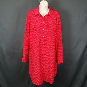 3 for $10 - Medium GAP chevron  shirt dress